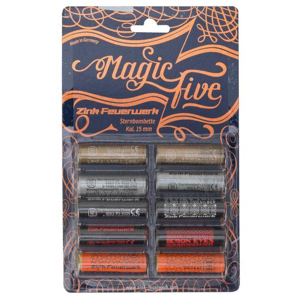 Fuochi priotecnici Zink Magic Five assortiti 15 mm 10 pezzi