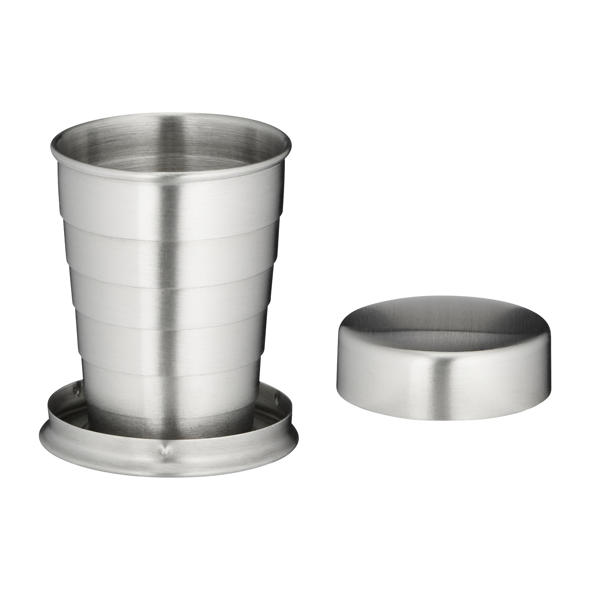 Bicchiere telescopico in acciaio da 4 cl