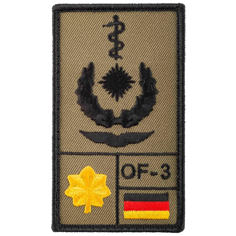 Patch di rango Medico dirigente Aeronautica Café Viereck oliva