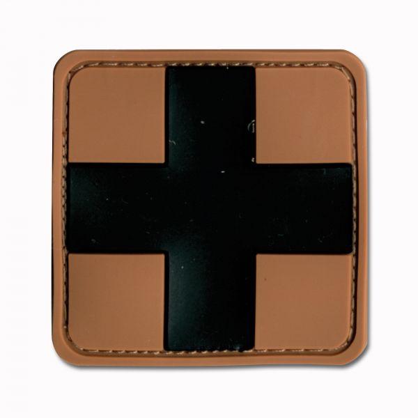 3D-Patch Croce Rossa medica marrone-nero