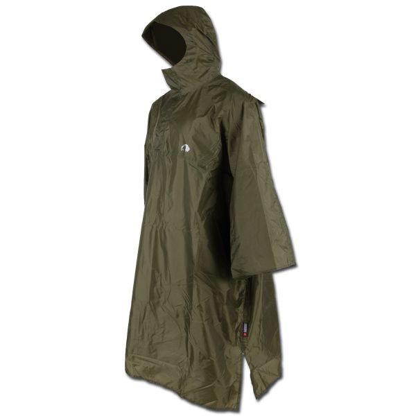 Poncho da pioggia Tatonka con cappuccio verde oliva