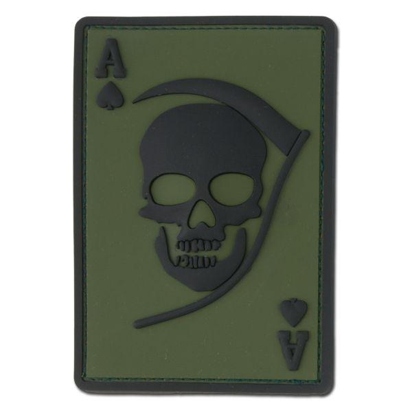 3D-Patch Morte Ace oliva/ nero