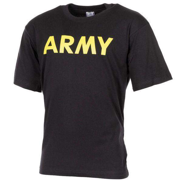 T-Shirt Army marca MFH colore nero