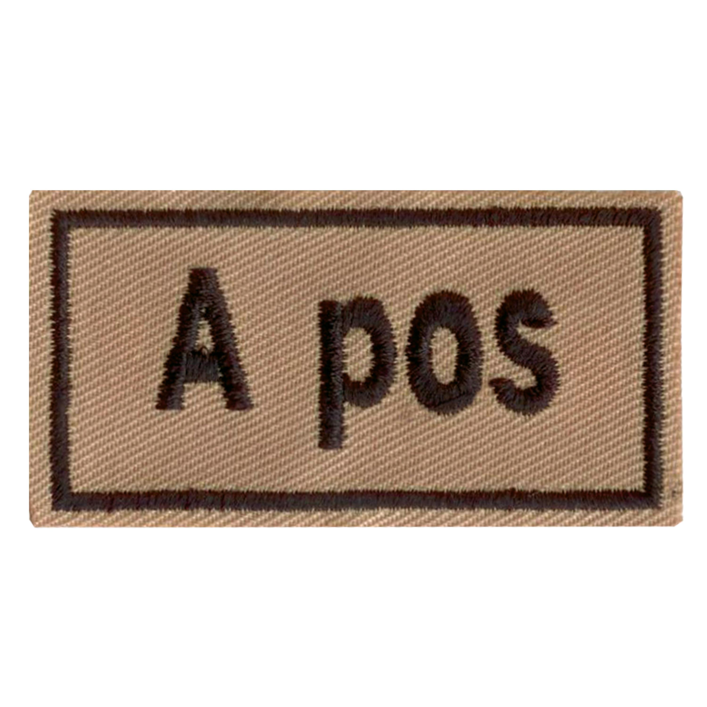 Badge sangue Patch A pos cachi