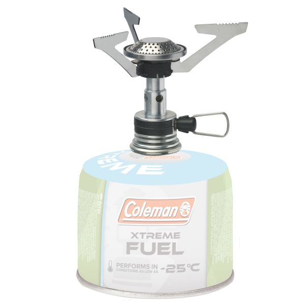 Fornelletto a gas FyrePowe marca Coleman argento