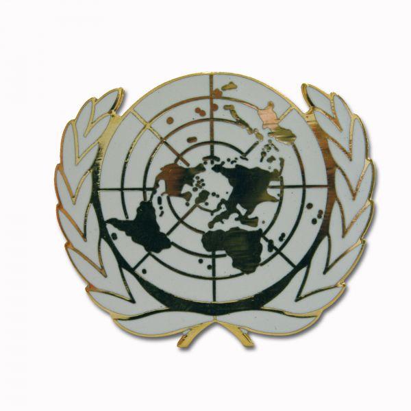 Distintivo da berretto militare BW ONU in metallo