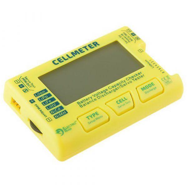 Electro River Testgerät Universal Battery Tester gelb