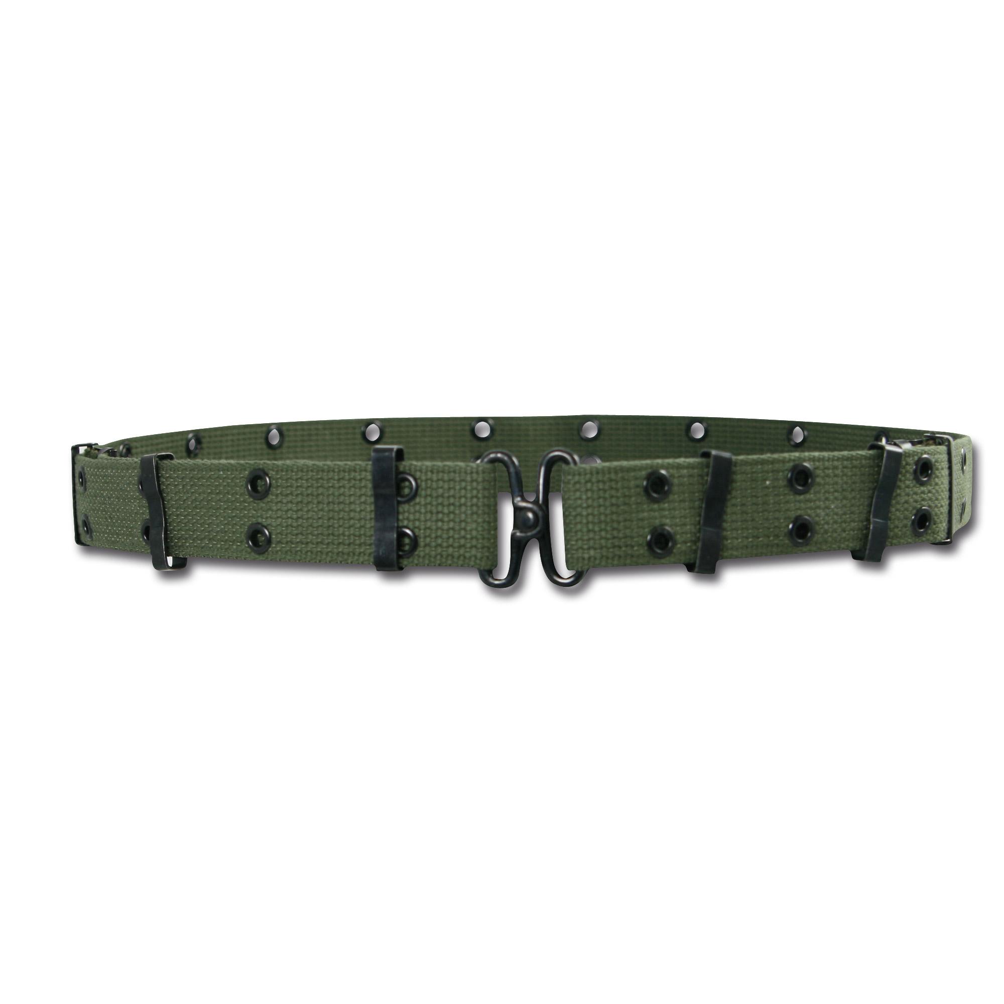 Mini cintura con fori, verde oliva