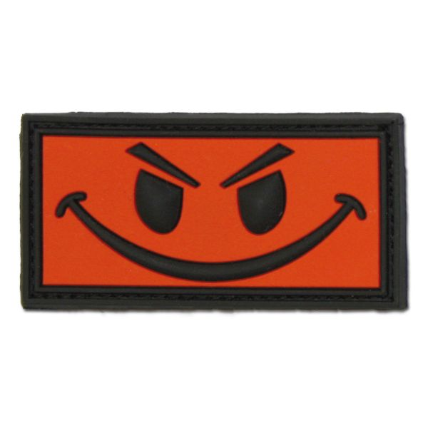 Patch 3D, Evil Smiley, rosso/nero