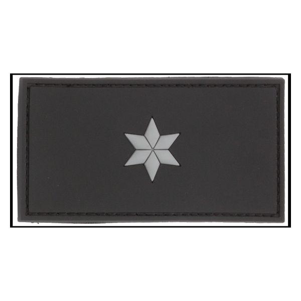 Distintivo di grado 3D Commissario Polizia nero