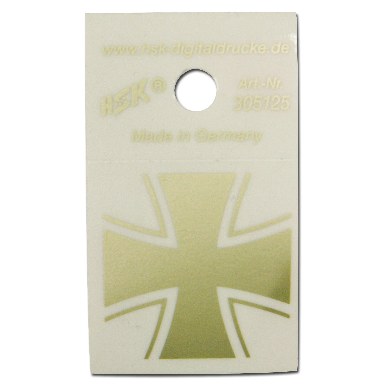 Adesivo Ferro Croce oro