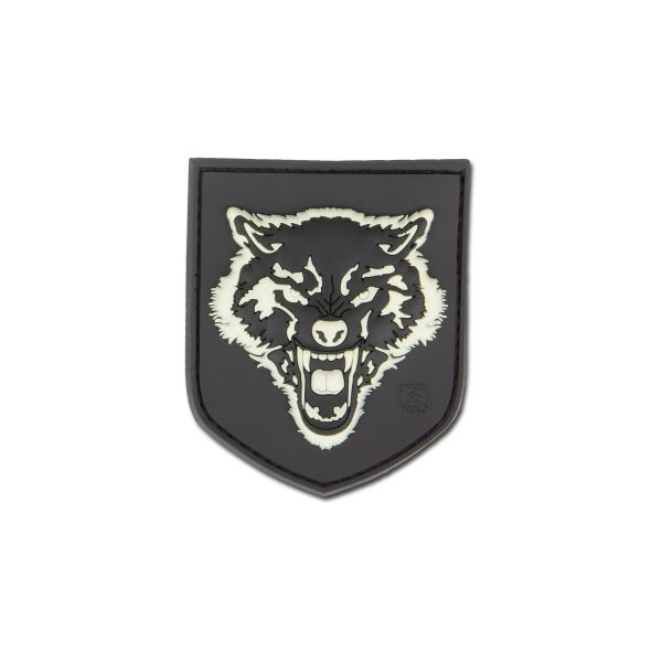 Patch in gomma 3D-Patch Wolf piccolo luminescente