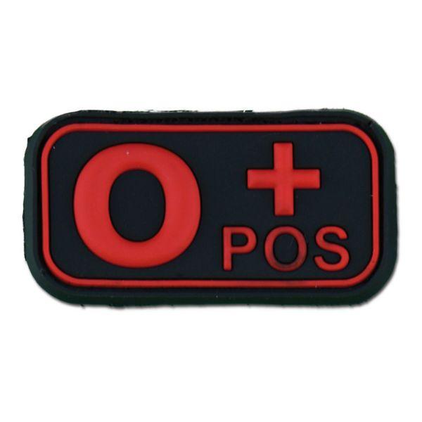 3D patch gruppo sanguigno 0 Pos blackmedic