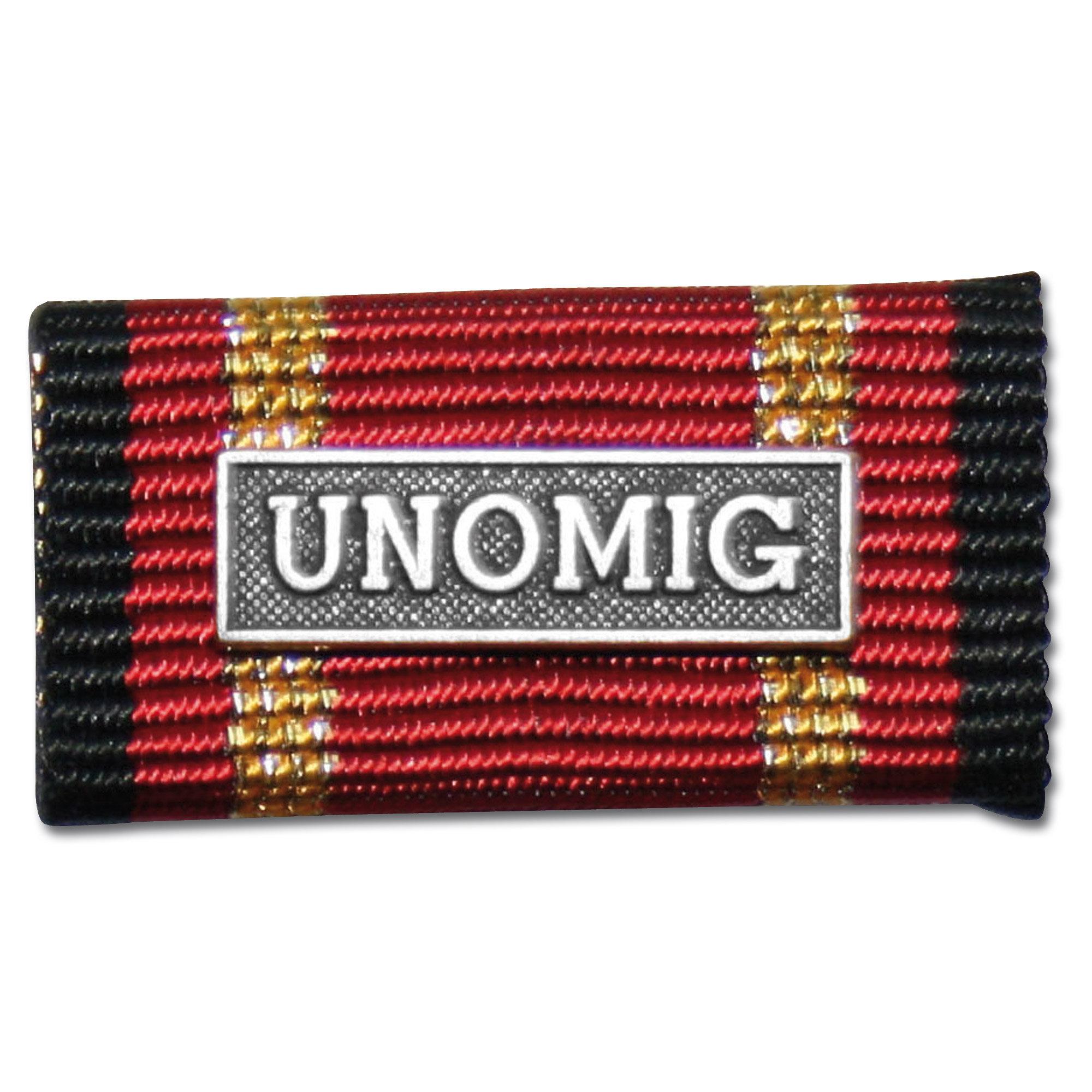Label Pin Auslandseinsatz UNOMIG silber