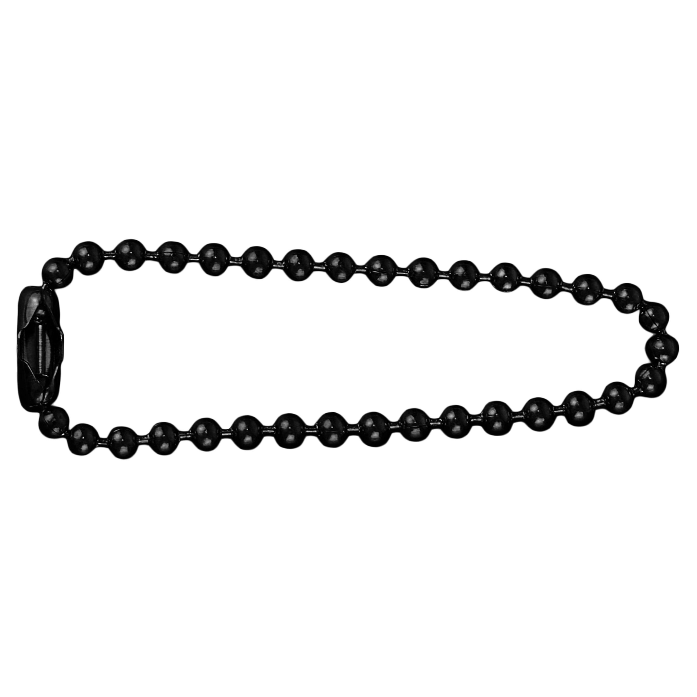Halskette für Erkennungsmarke 11cm Edelstahl schwarz