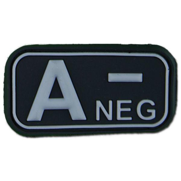 Patch 3D Gruppo sanguigno A Neg swat