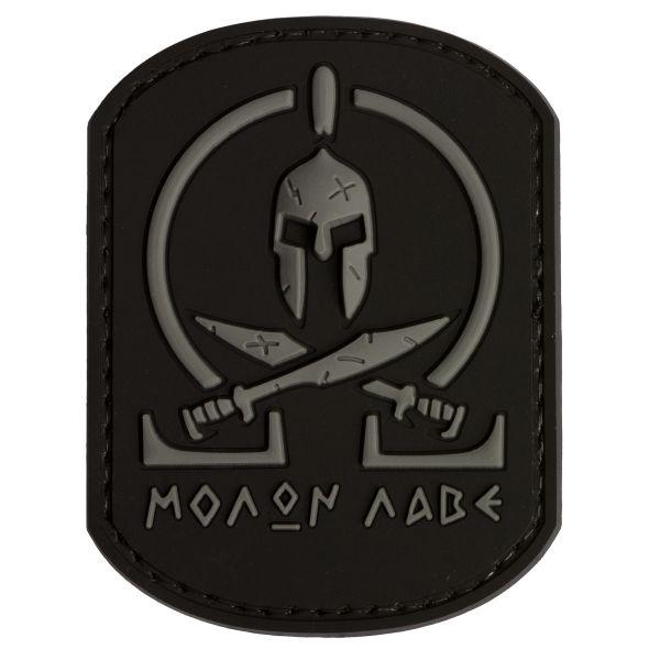 Patch 3D TAP Molon Labe Spartan nero
