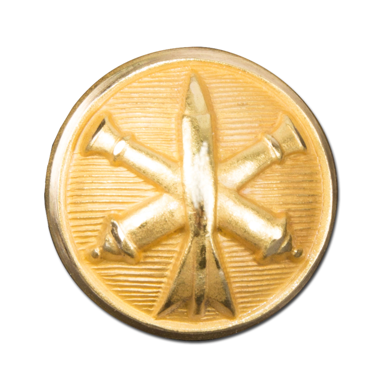 French button artillerie gold ø 15 mm